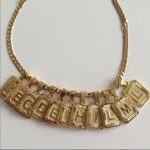 Other - - New 18k gold plated letter necklace